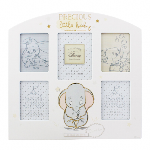 Disney Baby Dumbo Multi Aperture Photo Frame Gift For Nursery, New Baby and Christenings